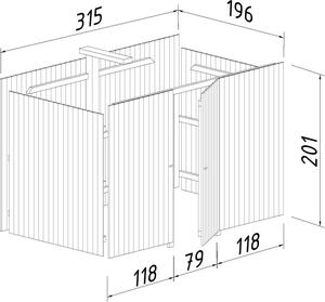 Bilde av Forlengelse/utvidelse for Carport Funky 23,7 m²